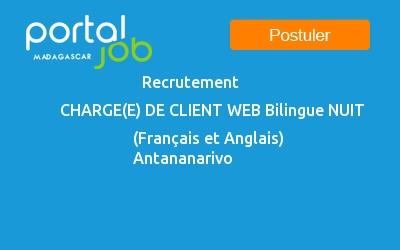 Emploi Recrutement Charge E De Client Web Bilingue Nuit Francais
