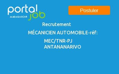 Emploi Recrutement Mecanicien Automobile Ref Mec Tnr Pj A